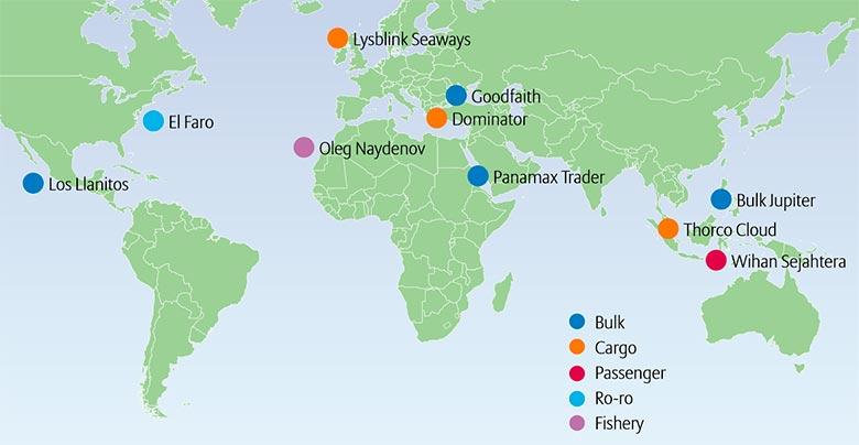 ТОП-10 крупнейших морских убытков в 2015